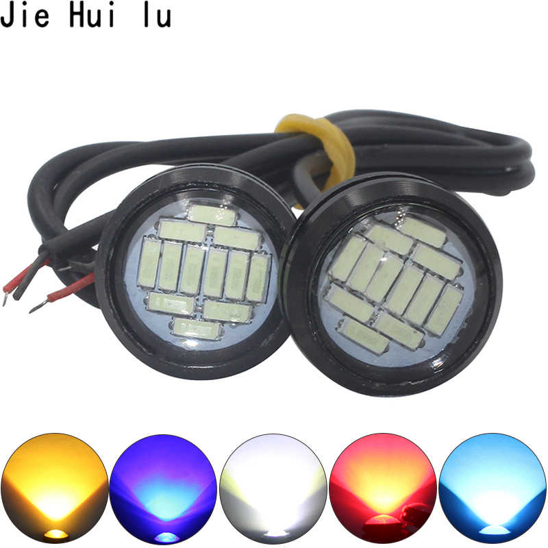 White DC 12V Eagle Eye LED Light 4014 12SMD 23MM Daytime Running DRL Backup Light DRL Car Auto Lamp 12 LED