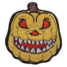 Halloween Pumpkin Lantern Cartoon Iron on Sew on Custom Biker Embroidered Patches for Clothes Hats for sale DIY Free Shipping grey reflective warning fabric sew on clothes for fashion free shipping