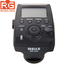 Meike MK 300 mini ttl on camera speedlite flash luz com mini interface usb para olympus E P5 panasonic gx7 leica dslr câmeras