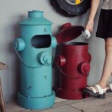 Американский винтажный Ностальгический железный лист столб-коробка мусорное ведро украшение дома реквизит