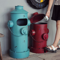 American Vintage Nostalgic Iron Sheet Pillar Box Garbage Bucket Home Decoration Props