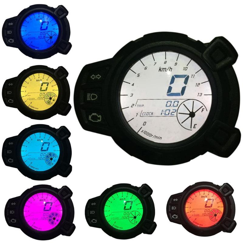 1Pc Motorcycle Colorful LCD Display Oil Level RPM Speed Meter for Yamaha BWS125 High Quality Motor vehicle LCD display Promotion high quality 100% guarantee for fly iq454 lcd display lcd scrren 1pc lot free shipping