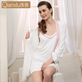 Brand Fashion Sexy Knit Long-Sleeved Two-Piece Tracksuit Ms. Autumn Modal Lace Nightgown Qianxiu