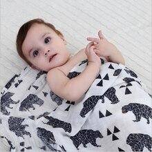 Sams As Aden Anais 100% Muslin Baby Tæppe Swaddle Baby Tæpper Nyfødt Organisk Bomuld Multifunktionel Sengetøj Håndklæde 120x120cm