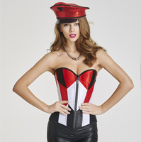 Women Clothing Waist Gothic Corsets Latex Waist Trainer Sexy Coat Of Paint Corselet Corset Bustier Strapless
