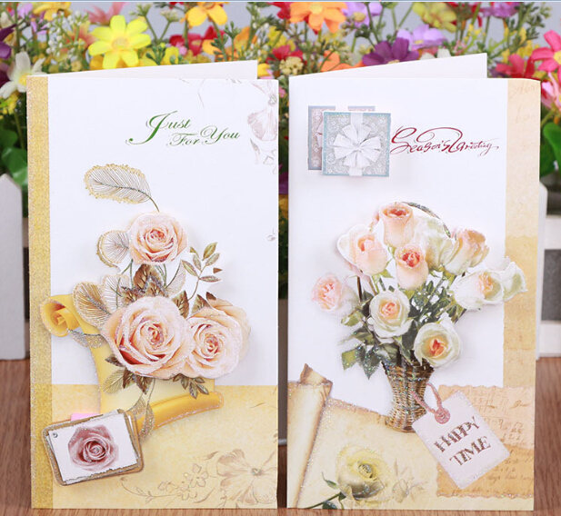 16pcsset diy handmade flower 3d pop up greeting cards with 16pcsset diy handmade flower 3d pop up greeting cards with envelope paper card birthday bookmarktalkfo Image collections