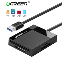 Ugreen All In One USB 3.0 картридер SD TF CF MS micro sd smart card reader для Samsung SanDisk карты памяти USB SD адаптер