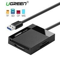 Ugreen Wszystko w Jednym USB 3.0 Czytnik Kart SD TF CF MS Micro SD Czytnik Kart do Samsung Pamięci Sandisk Karty USB SD Adapter