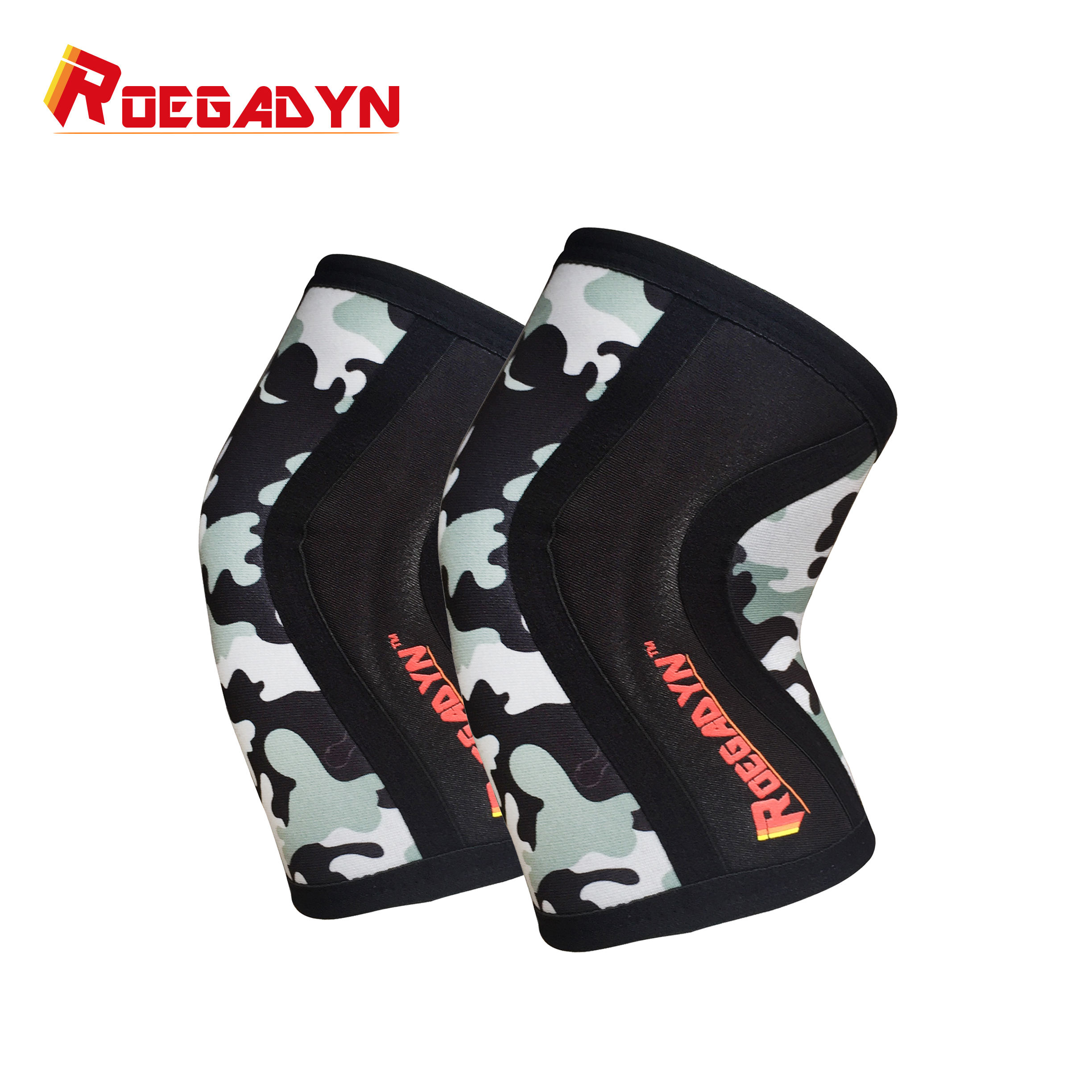 b8aba01e1e High quality Manufacturer 5mm Fitness neoprene elastic powerlifting Compression  knee Sleeves for fitness crossfit