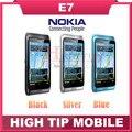 """Ruso Teclado QWERTY Desbloqueado teléfonos celulares Originales de Nokia E7 wifi 8.0MP cámara de 4.0 """"pantalla capacitiva 3G teléfono GPS Reacondicionados"""
