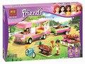 314 unids Amigos Niñas Aventura Campista RV BELA Bloques de Construcción de Plástico Ladrillos Juguetes Compatible con Legoe amigos