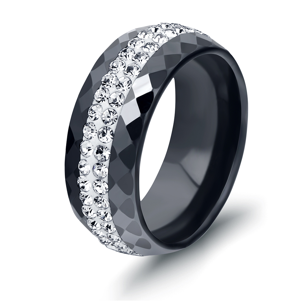 deer black antler band comfort dsc inlay wedding ebony rings products ceramic wood ring fit