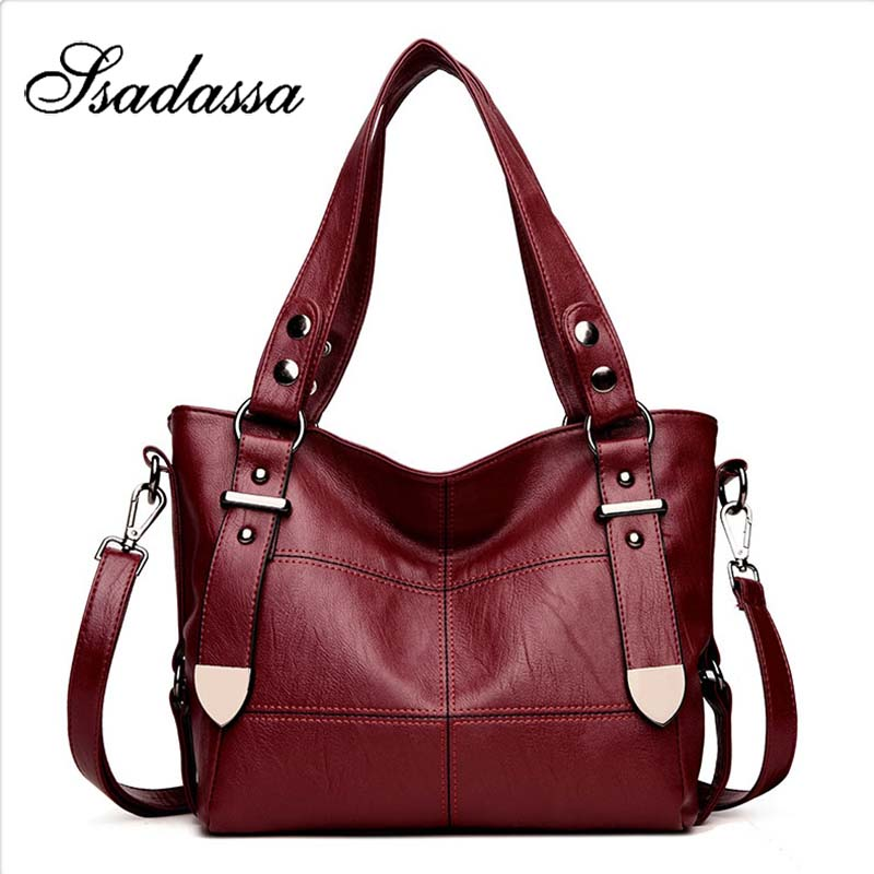 Shoulder Bag Casual Shopping Tote PU Leather Bags For Women Luxury Handbag Female Brand Designer Handbags Double Arrow Soild Bag