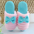 Mujeres Zapatillas de Invierno de Algodón Acolchado Cálido Moda Suave Inicio Antideslizantes Zapatos de Interior del Deslizador de la Felpa Para Mujer Ladies Floor otoño de Zapatos