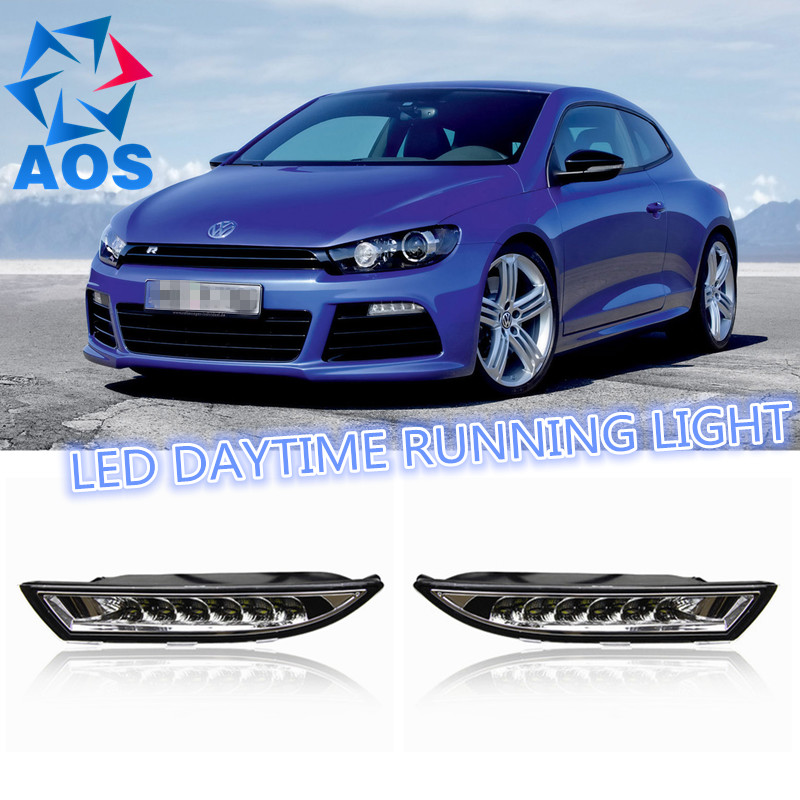 2PCs/set car styling AUTO LED DRL Daylight Car Daytime Running lights set For Volkswagen VW Scirocco 2012 2013 2014 2015 1set car accessories daytime running lights with yellow turn signals auto led drl for volkswagen vw scirocco 2010 2012 2013 2014