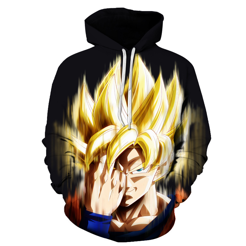 New Anime Hoodies Dragon Ball Z Pocket Hooded one-eyed 3D Printing Hoodies Pullovers Men Women Long Sleeve Outerwear S-6XL