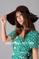 Special 6pcs Women Wool Floppy Brim Hats Ladies Bucket Hats Style Cloche Cap Felt Hat Bowler