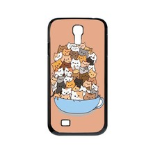 Because Cats Cute Funny Plastic Protective Shell Skin Bag Cover Case For Samsung Galaxy S4Mini