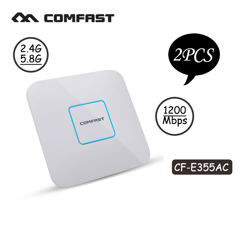2pcs Comfast Ceiling ap router 1200Mbps Wireless Access Point Dual Band 2.4G&5G AP network Wifi Router 802.11 AC support openWRT 2pcs 1750m gigabit ac wifi router 2 4ghz 5g dual band wifi repeater access point ap router cf e380ac wireless ceiling ap openwrt