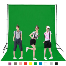 1.6 x 5M 4M (length) DIY Photography Studio Backdrop Background Screen Durable Non-woven Black White Green Gray Blue for Option