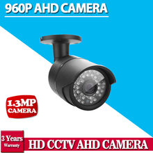 CCTV HD AHD 960P 1.3MP AHDM security Camera 960P Outdoor Bullet Mini Surveillance Camera CCTV IR Cut Filter