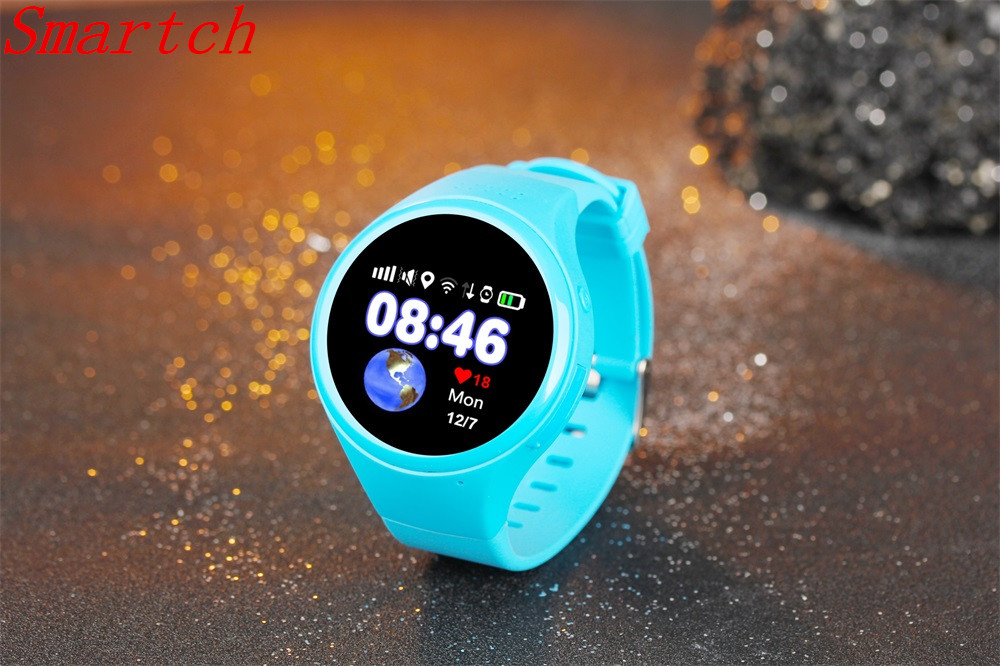 Smartch 1.22 inch Touch Screen GPS Positioning WIFI LBS AGPS Tracking Children Old T88 Kid Smart Watch SOS Passometer Baby Safe