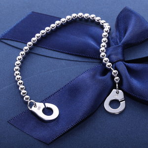 Image 5 - Moonmory France Popular 925 Sterling Silver Handcuff Bracelet For Women Many Silver Beads Chain Handcuff Bracelet Menottes