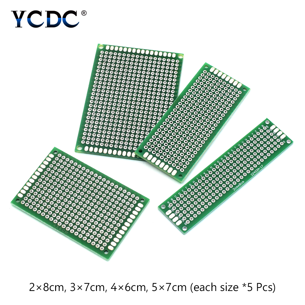 Accessories & Parts Circuits 20pcs Tinned Pcb Proto Circuit Board For Electronic Diy Projects 4 Sizes Mix