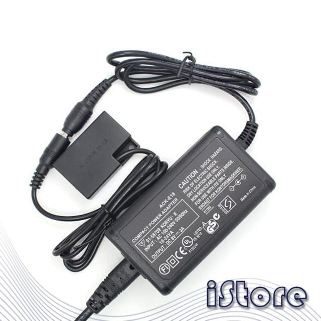 Adaptador de corriente ACK E18 para cámaras Canon RP/EOS77D/800D/760D/750D/200D II/200D/9000D/8000D/Kiss X9i/X9/X8i