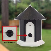 House Shape Dog Outdoor Ultrasonic Anti Barking Stop Bark Device Dog Repeller No Barking Control Training Barking Silencer