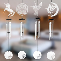 Stainless Steel Pastoral Style Multi tube Wind Chime Bell Hanging Music Equipment Creative Outdoor Home Decor Christmas Gifts