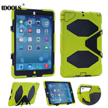 3 in 1 Hybrid Plastic+Silicon Heavy Duty Shockproof Dual Layer Rugged Military Armor Back Cover Case For iPad 4 3 2 ipad3 ipad 4(China)
