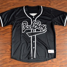 MM MASMIG Biggie #10 Bad Boy Baseball Jersey Stitched Black