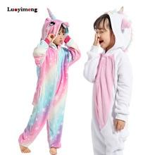 Одежда для девочек; Детские пижамы в виде единорога с золотыми рогами; кигуруми; Мультяшные животные; розовый комбинезон с единорогом для мальчиков; комбинезон на Хэллоуин