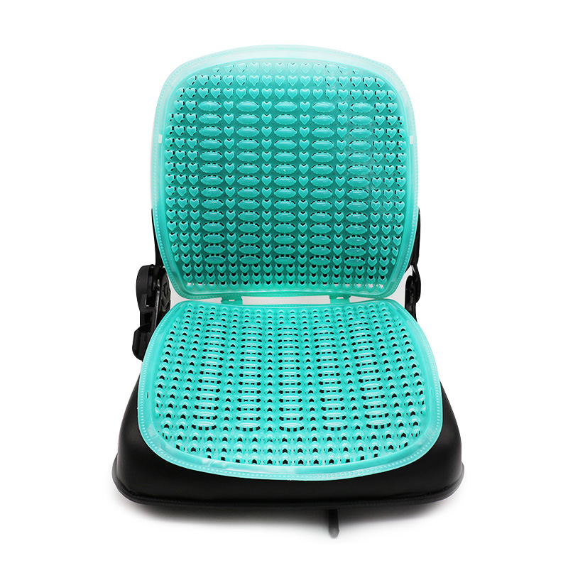 Summer Plastic Breathable Cool Car Waist Seat Cushion Apply to Forklift Auto Minibus Pad Cover Comfortable Breathable Cushion