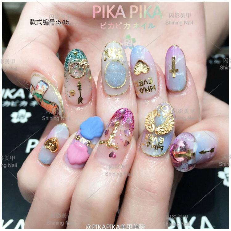 100pcs/bag Japan Nail Art Decoration Metal Kawaii Deer,Jesus,Bird ...