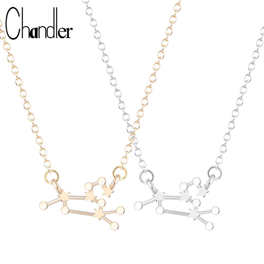 Chandler New Aquarius Zodiac Sign Astrology Necklace Constellation