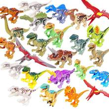 Dinosaurs Park Tyrannosaurus Rex Mini Kid Baby Sets Building Blocks Compatible with LegoINGlys Jurassic World 2 Toy For Children(China)