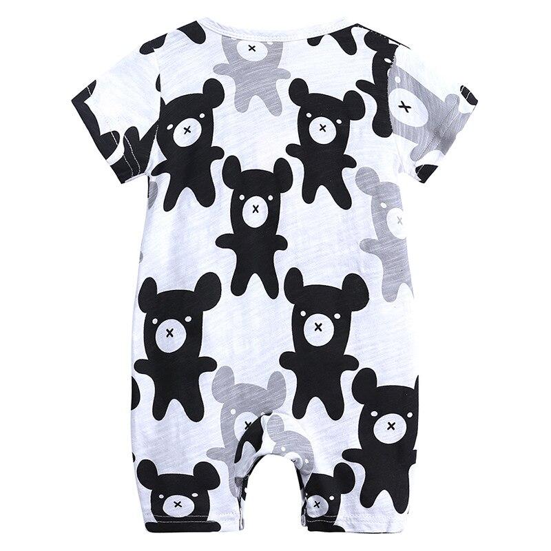 HTB1gjpzXUrrK1RkSne1q6ArVVXaM 2019 Cartoon Baby Onesies Summer Cotton Romper Boy Girls 0-24 Months Kids Clothes Knitted Cartoon Short-sleeved Jumpsuit Outfits