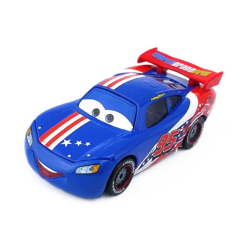 Disney Pixar Cars No.1 95 Lightning Mcqueen Amerika Patroon Metalen Diecast Toy Car 1:55 Losse Brand New Op Voorraad & gratis Verzending