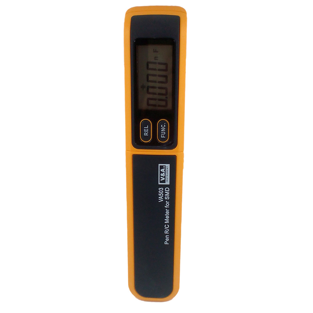 VA503 Handheld Tweezers Digital Resistance Capacitance Diode Test Multimeter Meter R/C SMD 3999max reading+Relative Measurement my68 handheld auto range digital multimeter dmm w capacitance frequency