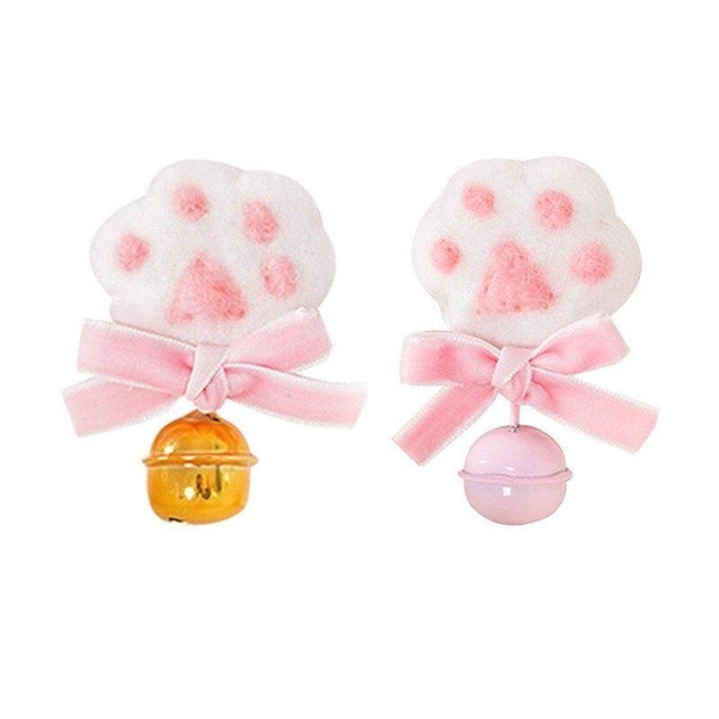 Womens Cute Cat Paws Headwear Girls Bowknot Bells Hair Clip Lolita Anime Cosplay Costume Brooch