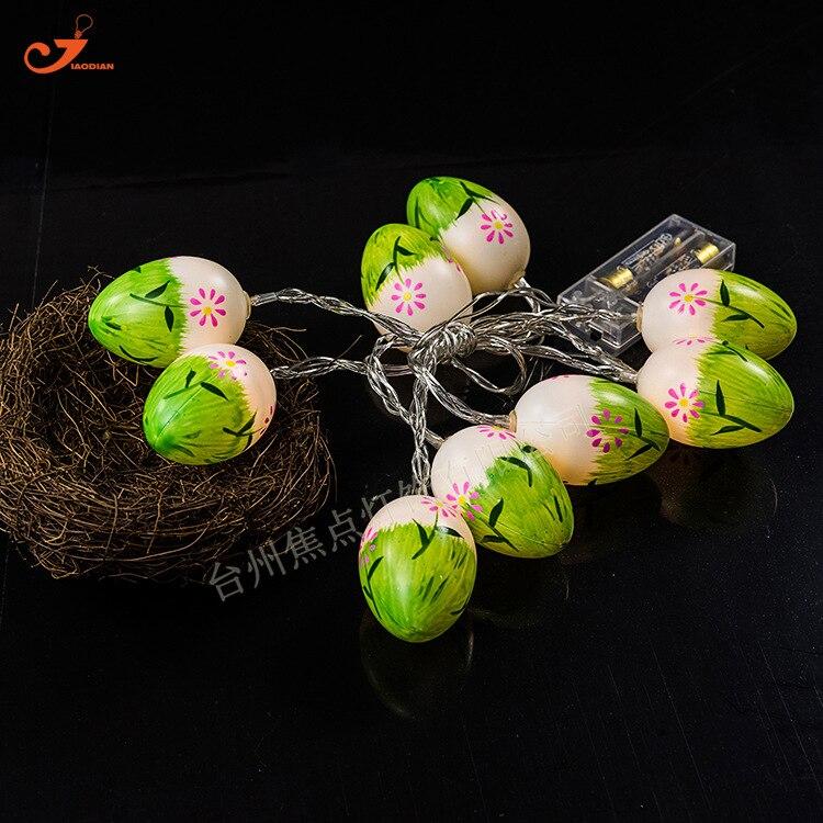 10 LED Easter Egg Ball Lamp String Starry Fairy Lights For Garden Kids Living Room Ornament Spring Fresh Mini Lamp Party Decor