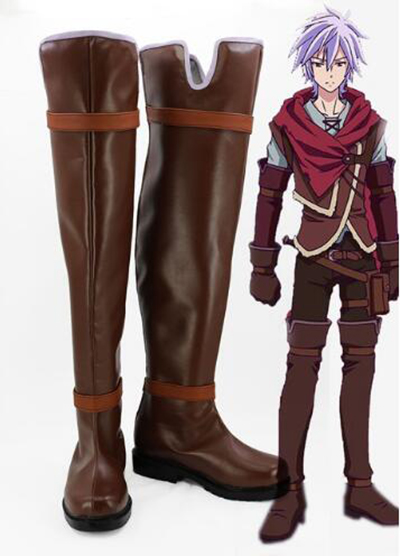 No Game No Life Zero Riku Cosplay Boots shoes Christmas Halloween Party Custom Made for Adult Men Shoes Accessories