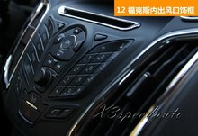 Free Shipping Chromed Inner 5PCS Air Flow Vent Fender Decoraton Trim For Ford Focus 2012 2013 2014