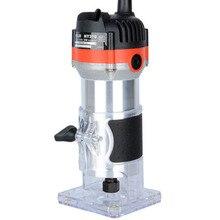 530 Вт 35000 об./мин деревообрабатывающий фрезерный станок электрический триммер деревообрабатывающая фрезерная гравировка машина для обрезки резьбы вручную маршрутизатор