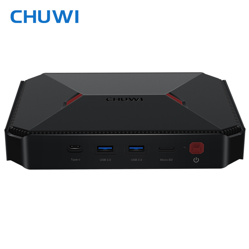 CHUWI Mini PC GBox Windows 10 Intel Gemini Lake N4100 LPDDR4 4GB 64GB Dual Wifi 2.4G/5G HDMI 2.0 Mini Computer with Air Mouse