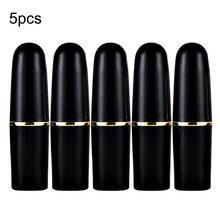 5pcs Matt Black Round Empty Lipstick Tubes DIY Pointed Lip Balm Tools Homemade Lipstick Containers Empty Cosmetic Tube 8pcs lot 50ml clear empty plastic round deodorant containers lip balm tubes for lipstick crayon lipstick homemade lip balm