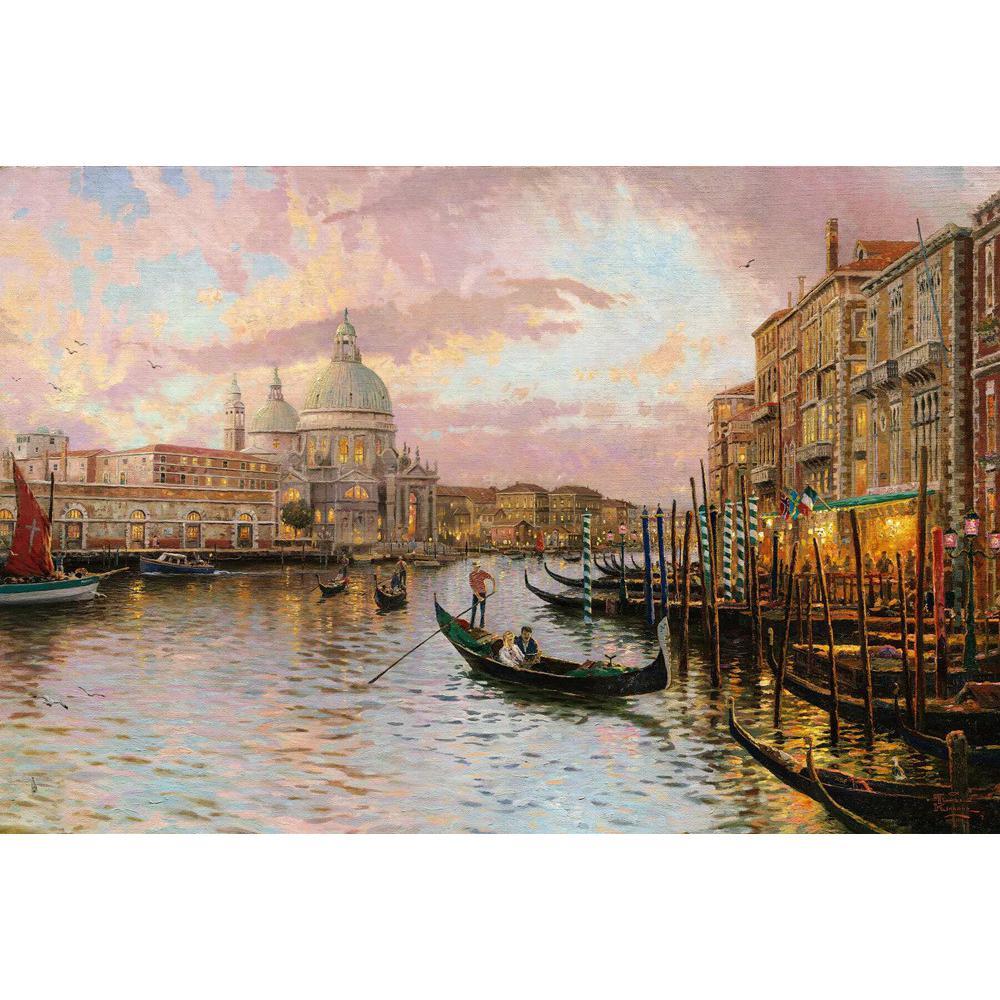 Peint à la main peintures à l'huile de Venise Moderne art paysages marins photos sur toile pour décor de mur De Haute qualité