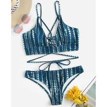 все цены на Sexy Floral Bikini 2019 Push Up Swimwear Women Swimsuit Micro Bikini Set Swimming Suit Beachwear Biquini Maillot De Bain Femme онлайн